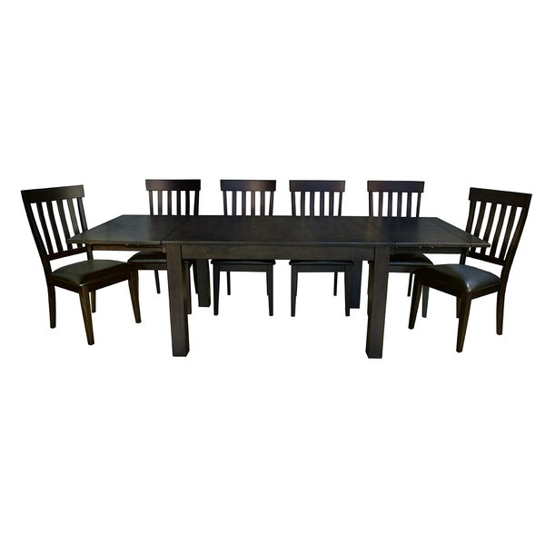 Lolington 7 Piece Solid Wood Dining Set by Loon Peak Loon Peak