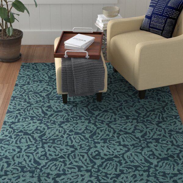 Aymond Hand-Tufted Teal/Turquoise Area Rug by Winston Porter