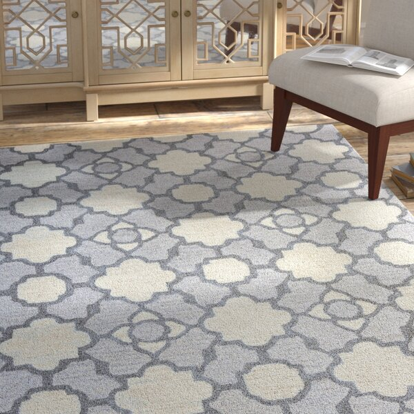 Viktualien Hand-Tufted Light Gray Area Rug by Bungalow Rose