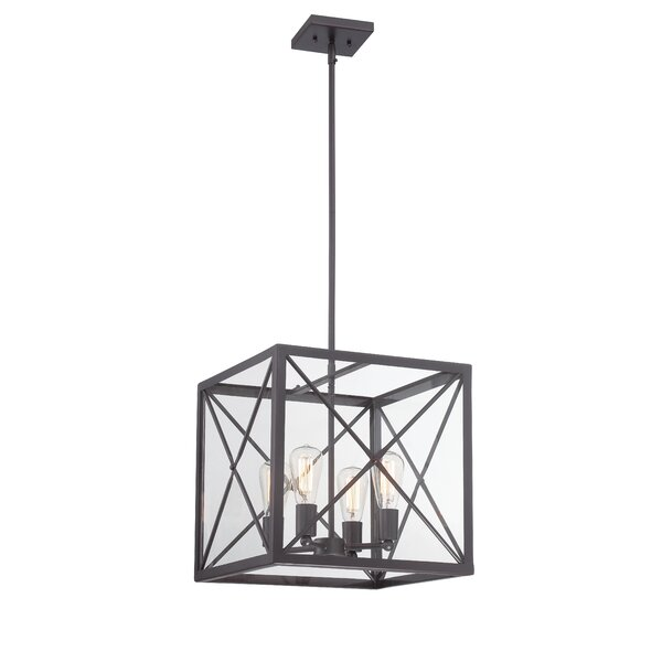 Harlon 4-Light Candle Style Rectangle / Square Chandelier By 17 Stories