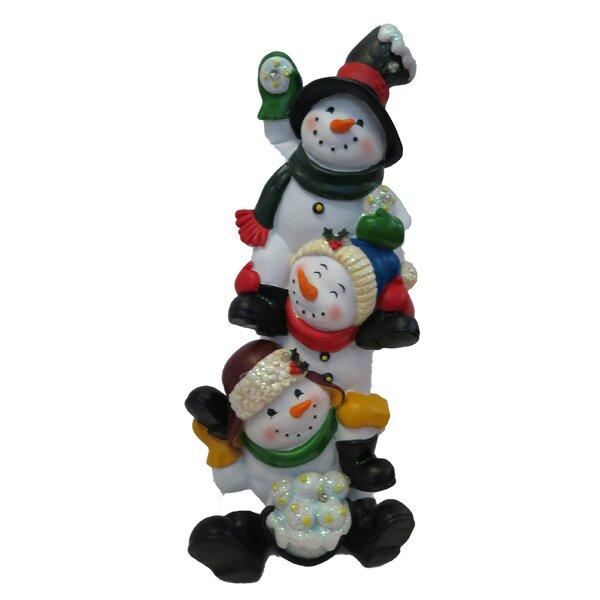 Snowmen Statue by Alpine