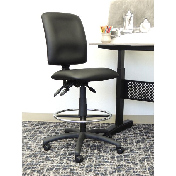 Leather Drafting Chair by Boss Office Products