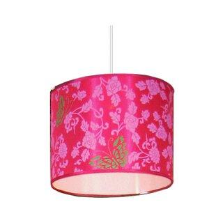 Pink light shades wayfair 40cm silk butterfly drum lamp shade aloadofball Choice Image