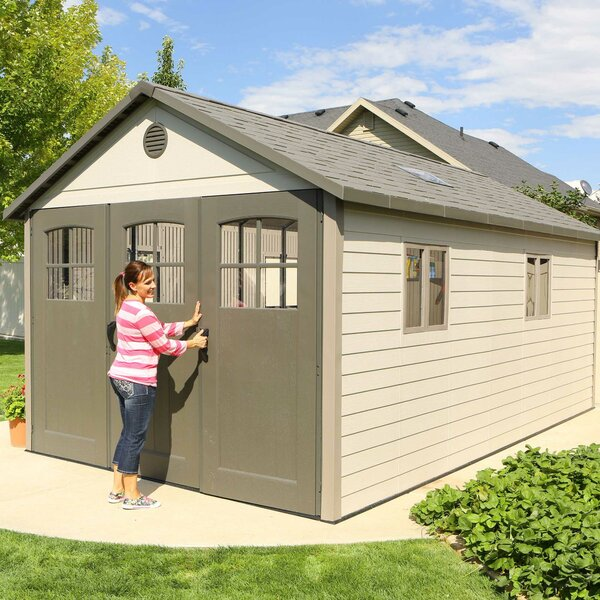 11 ft. W x 18 ft. 5 in. D Plastic Storage Shed by Lifetime