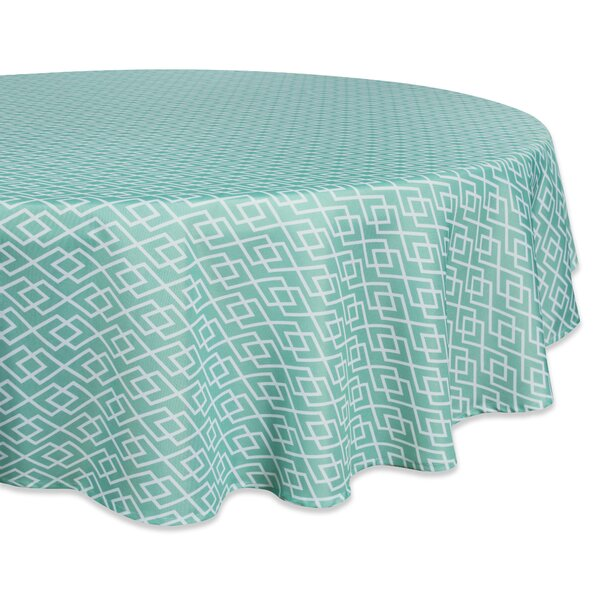 Leavitt Diamond Outdoor Tablecloth by Wrought Studio