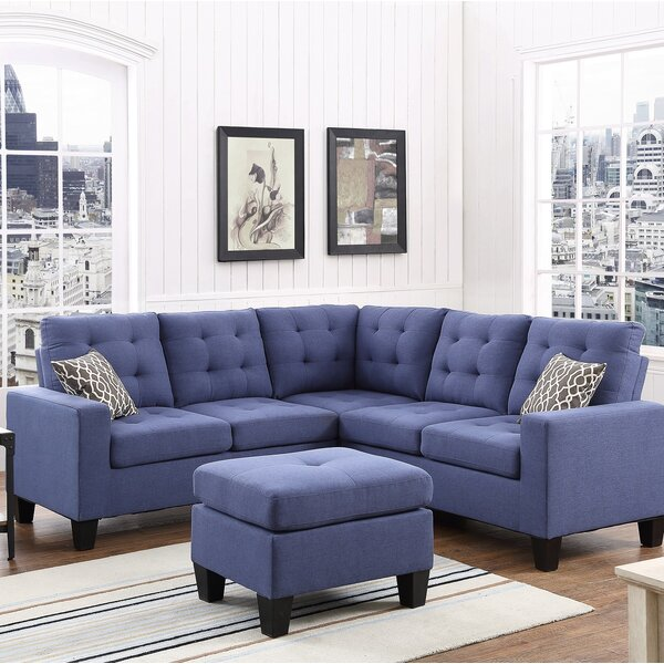 Averie Sectional with Ottoman by Winston Porter