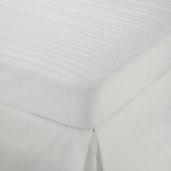Damask Stripe Polyester Mattress Topper by Martex