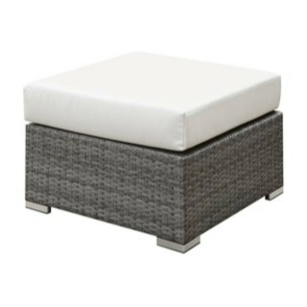 Shearin Outdoor Ottoman with Cushion by Ivy Bronx