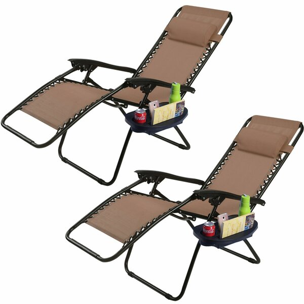 Kempst Zero Gravity Reclining Sun Lounger Set (Set of 2) by Freeport Park