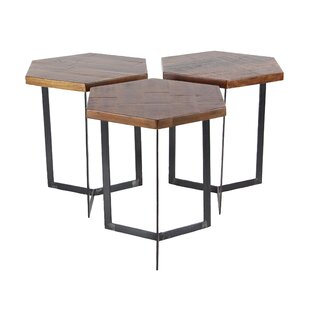 Great choice Wales Contemporary 3 Piece Hexagonal Bunching Coffee Table Set ByUnion Rustic