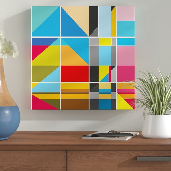 Geo Graphic Art on Wrapped Canvas by Corrigan Stud
