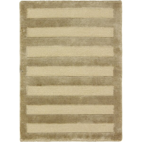 One-of-a-Kind Atticus Indo Tibetan Hand-Knotted Wool Gold Area Rug by Isabelline