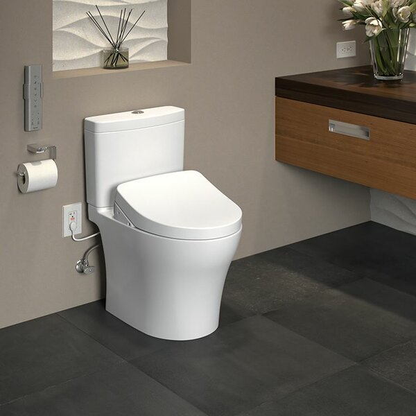 Aquia IV 1G Dual Flush Elongated Two-Piece Toilet with Ewater+ by Toto