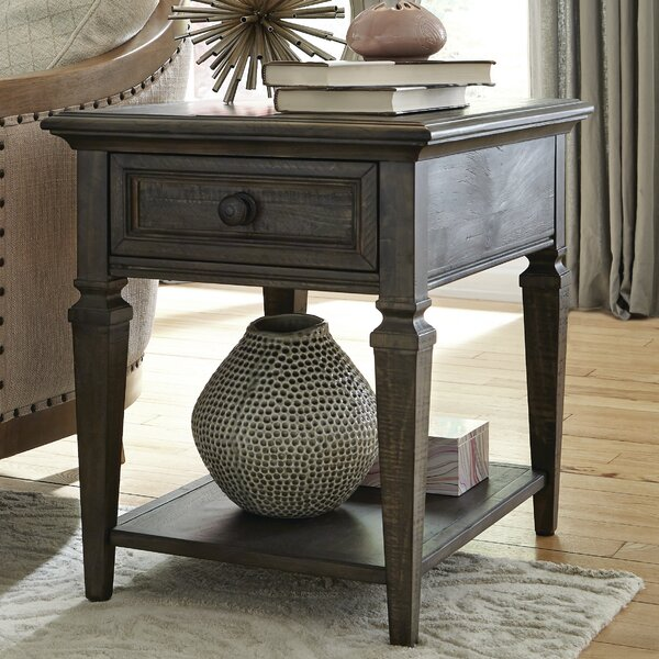 Heitman End Table With Storage By August Grove