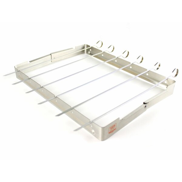 Stainless Grill Rack with Skewer by Yukon Glory
