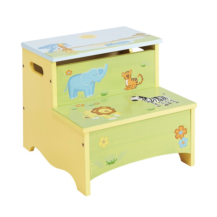 Excellent Savanna Smiles Kids Step Stool With Storage Camellatalisay Diy Chair Ideas Camellatalisaycom
