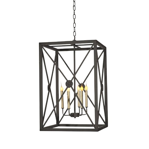 Medallion 6 - Light Candle Style Rectangle / Square Chandelier by ellahome ellahome