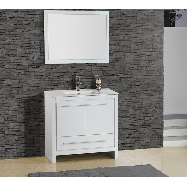 Alexa 30 Single Vanity with Mirror by Adornus