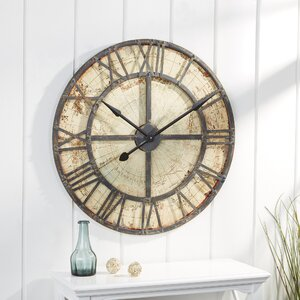 Oversized Hadnall Map Wall Clock