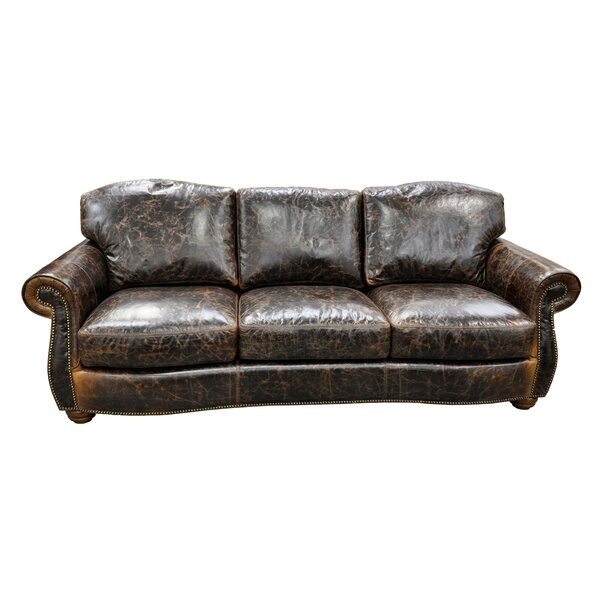 Huntington Leather Standard Sofa by Omnia Leather