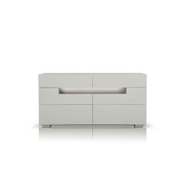 Stiffler 6 Drawer Double Dresser by Orren Ellis