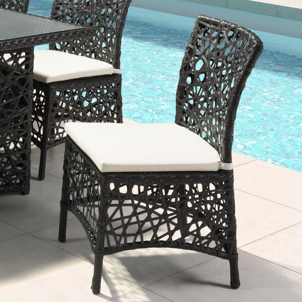Baur Patio Dining Chair with Cushion by Brayden Studio