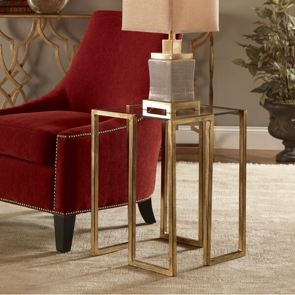 Elsa End Table by Everly Quinn Everly Quinn