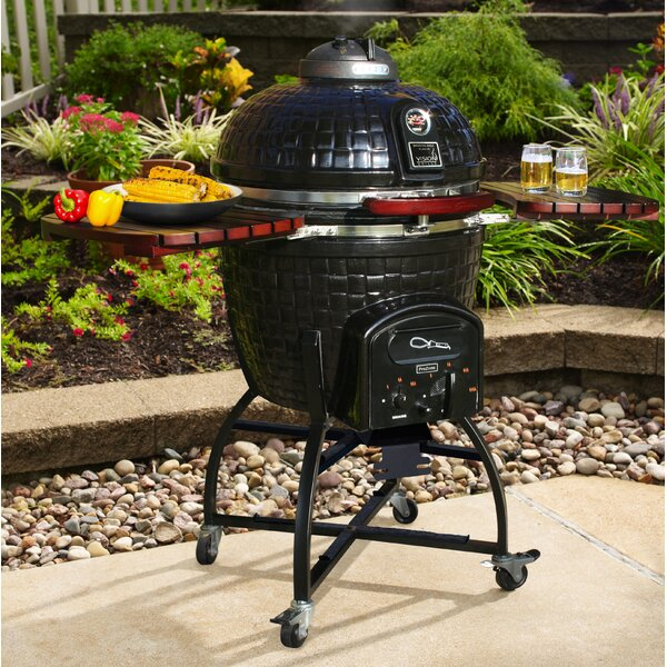 18 Signature Series Gourmet Kamado Charcoal Grill with Smoker by Vision Grills