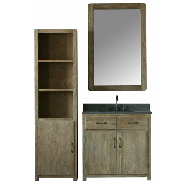 Alamo 59 Single Bathroom Vanity Set with Mirror by Laurel Foundry Modern Farmhouse