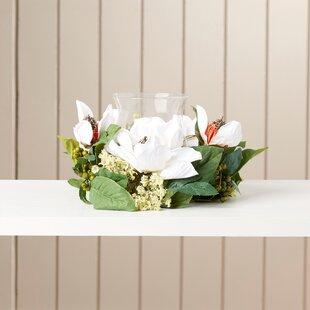 Magnolia silk flowers wayfair christena magnolia candelabrum silk candelabrums mightylinksfo