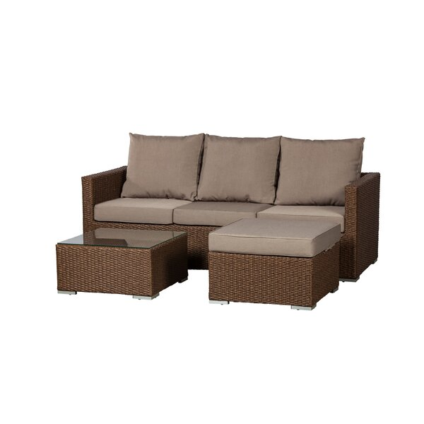 Dorsey 3 Piece Sectional Seating Group with Cushions by PatioSense