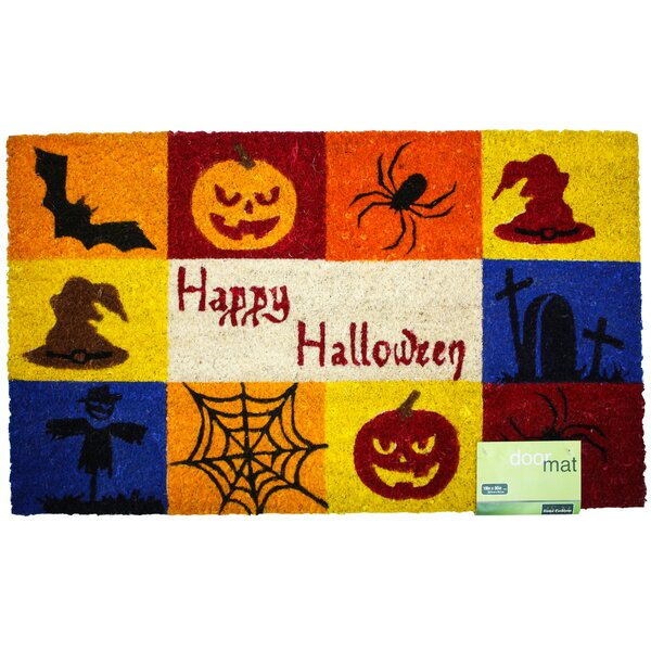 Happy Halloween Doormat by J and M Home Fashions