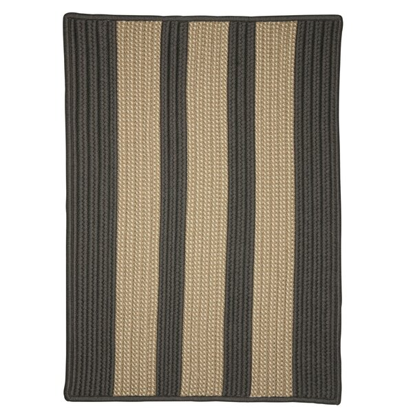 Seal Harbor Hand-Woven Gray Indoor/Outdoor Area Rug by Breakwater Bay