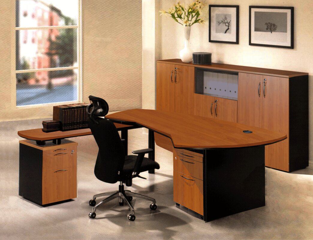 ebay and shaped itm file cherry with l filing desk in cabot hutch lateral cabinet