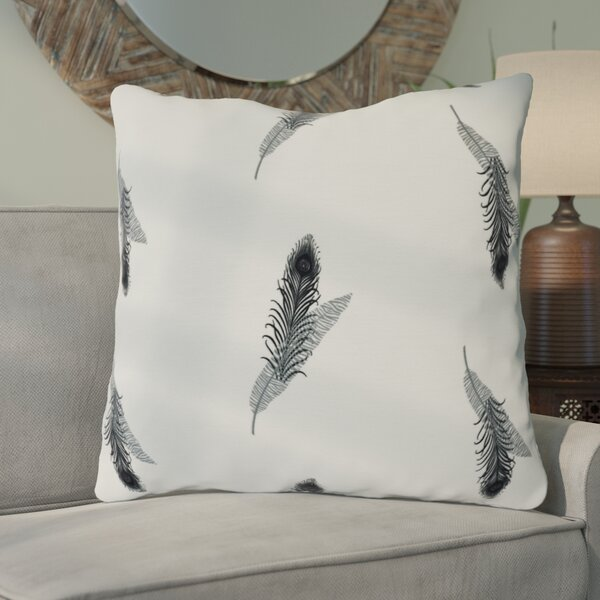 Lassiter Feather Floral Throw Pillow by Bungalow Rose