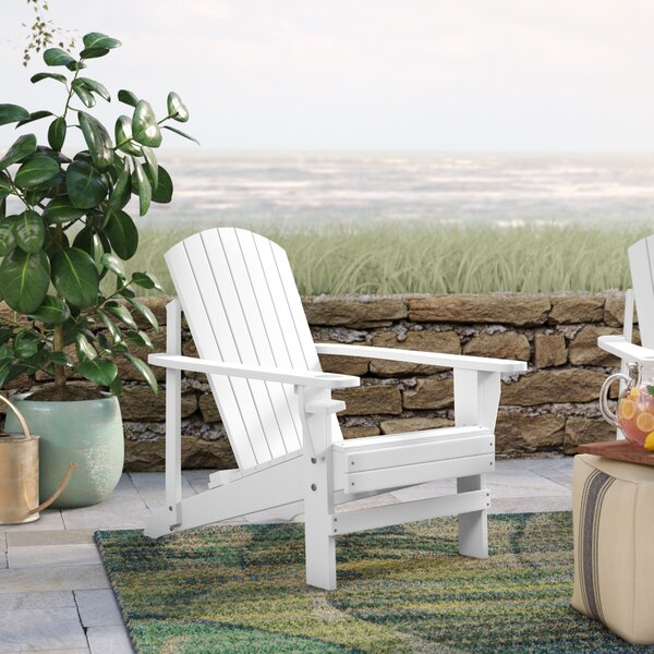 Thornhill Solid Wood Adirondack Chair by Beachcrest Home Beachcrest Home