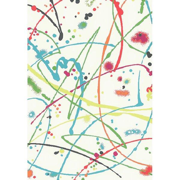 Martin Cream Area Rug by Ebern Designs