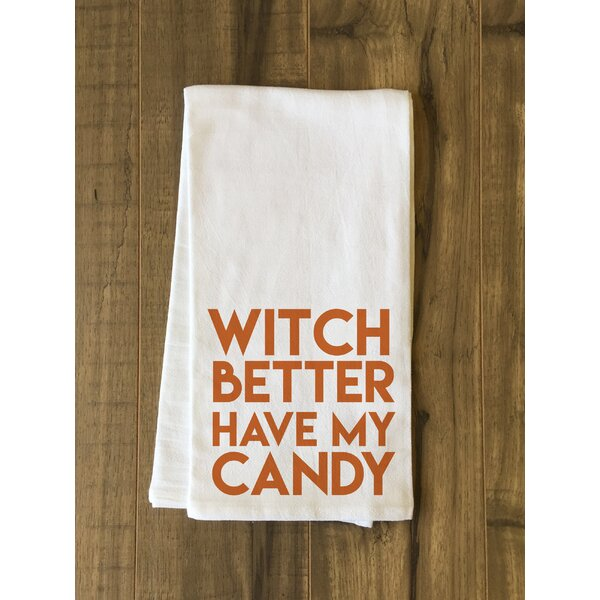 Witch Candy Tea Towel by Brayden Studio
