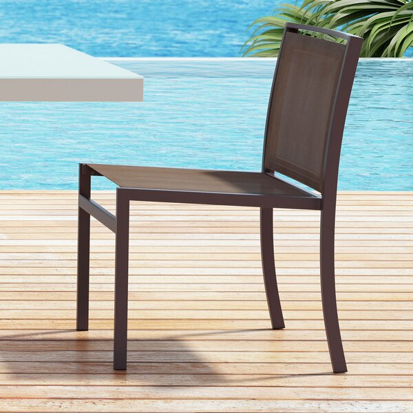 Drumankelly Stacking Patio Dining Chair (Set of 2) by Orren Ellis