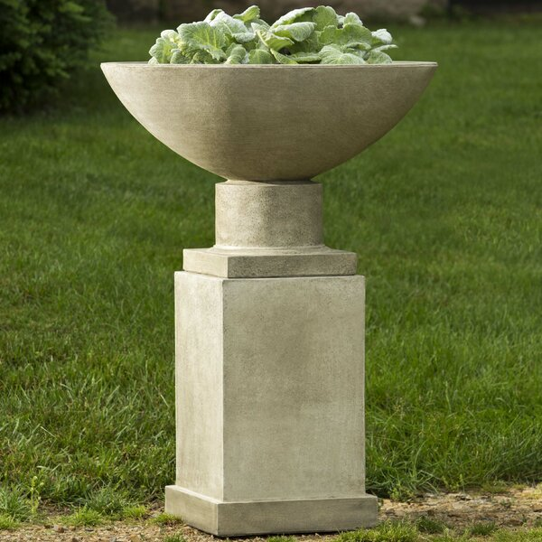 Savoy Pedestal Cast Stone Urn Planter by Campania International