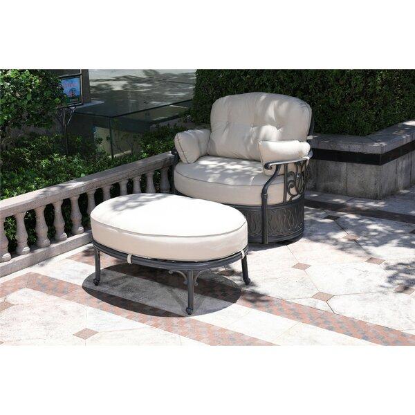 Ubaid Swivel Patio Chair With Sunbrella Cushions And Ottoman By Charlton Home by Charlton Home Wonderful