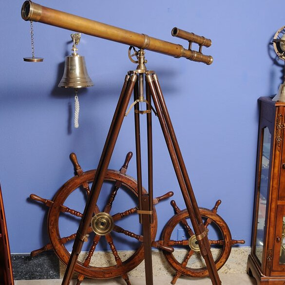 Decorative Telescope with Stand by Old Modern Hand