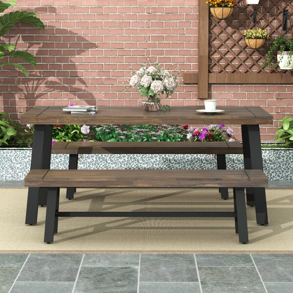 Holdrege 3 Piece Dining Set by Foundry Select