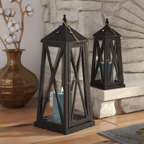 2 Piece Metal Lantern Set by August Grove