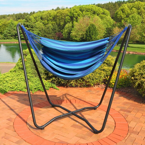 Krystal 2-Point Chair Swing and Space-Saving Hanging Cotton Chair Hammock by Freeport Park