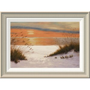 'Summer Sunset' by Diane Romanello Framed Painting Print by Global Gallery