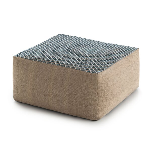 Space Raw Pouf by GAN RUGS