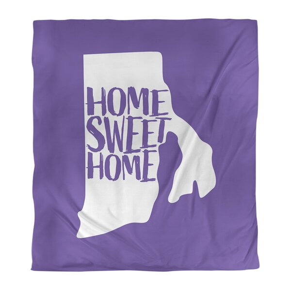 Home Sweet Rhode Island Single Reversible Duvet Cover