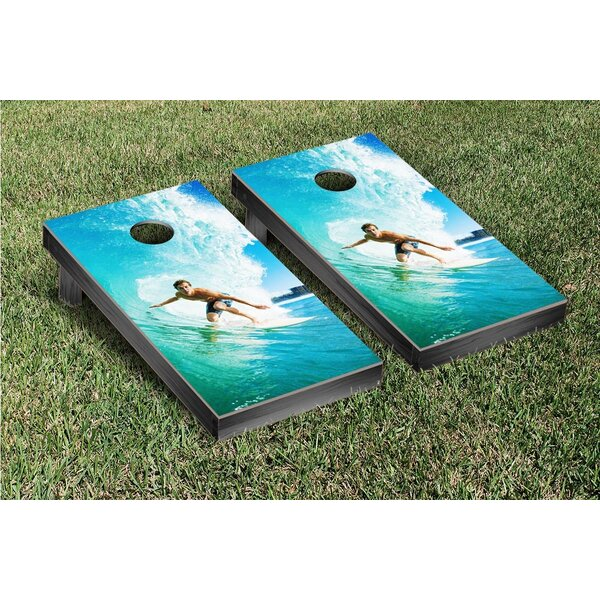 Big Wave Surfing Cornhole Game Set by Victory Tailgate