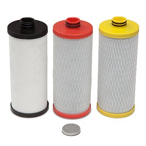 3 Cartridge 600 Gallon Under Sink Replacement Filter (Set of 3) by Hahn